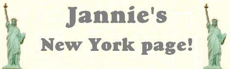 Jannie's New York Page banner!